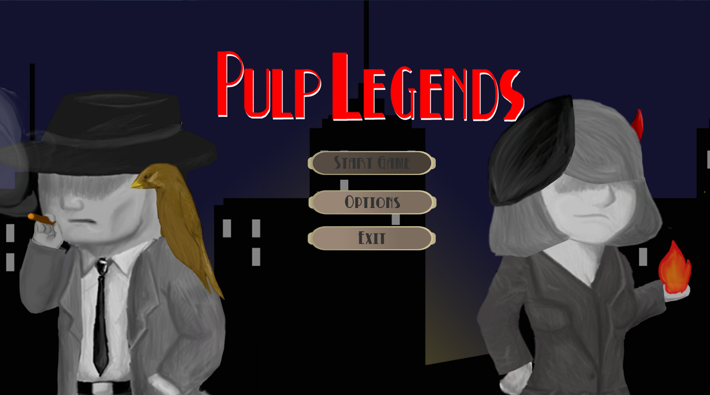 Pulp Legend's Main Menu